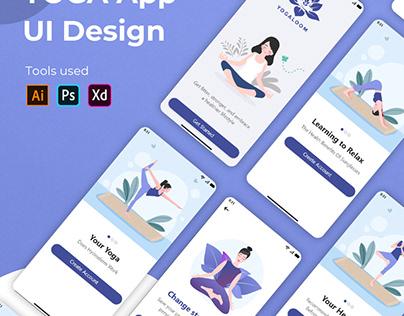 Yoga Mobile app design