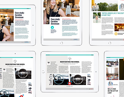 Interstitial iPad ads for The Guardian advertisers.