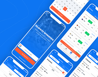 Always Winning - Betting App UI Design