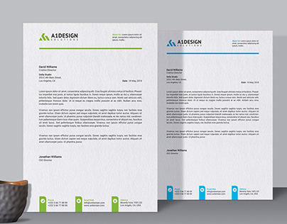 Stationary Design - Letterhead Template