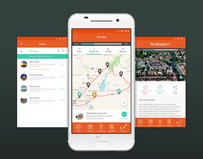 Monument Tracker - Strasbourg- iOS App Design