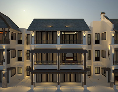 Luxury Resort building design study: 18 keys apartment