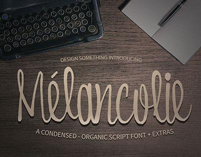 Melancolie Font + Extras