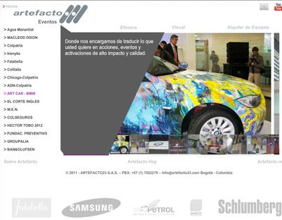 Web Design for Artefacto23.com