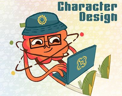 Brand Character Design for school