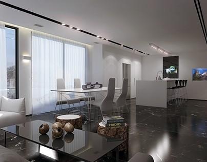 עיצוב של דירה ברמת גן למראה יוקרתי