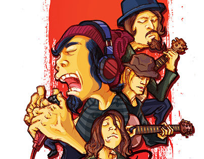 One ok rock caricature on behance voltagebd Images