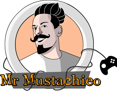 Logo for youtuber Mr Mustachieo.