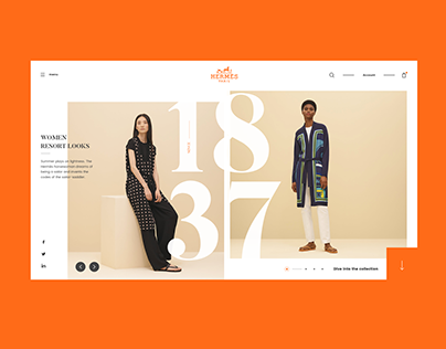 Hermès Landing Page