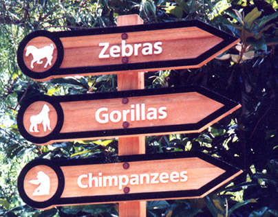 Dallas Zoo Directional Signage Redesign