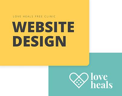 WEB DESIGN: Love Heals Free Clinic