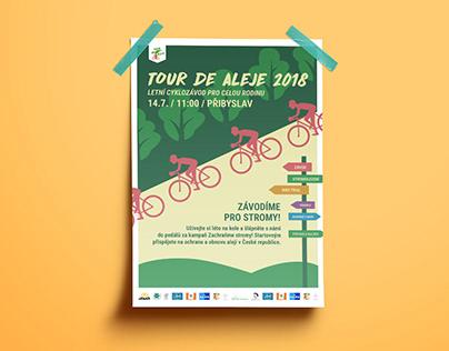 Plakát pro cyklo závod Tour de Aleje 2018