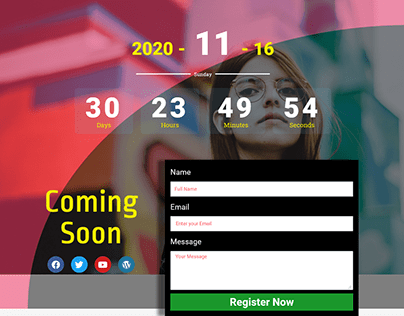Coming Soon Page design with wordpress elementor pro