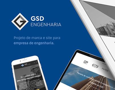 Marca + site: GSD Engenharia