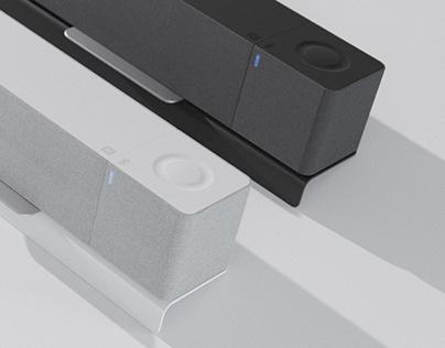 Desktop speaker soundbar concept