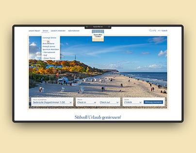 UI/UX – Kaiservillen Usedom – Redesign Draft