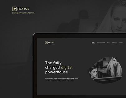 Prayce - Web UI/UX Design