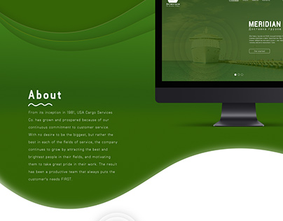Website design for cargo freight