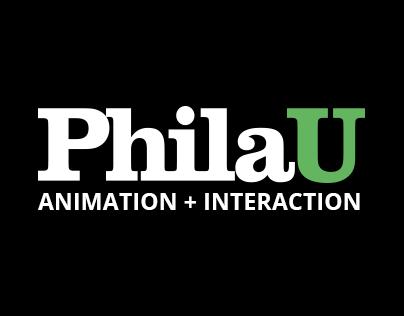 PhilaU Animation + Interaction