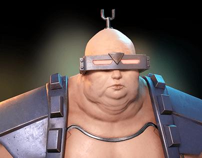 Krang Low Poly bust
