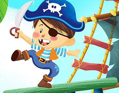 """Felt Puzzle: """"The Pirates"""" - Larteaparte"""