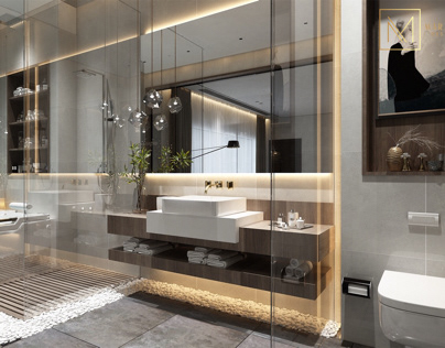 Private bathroom design in kuwait