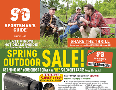 Sportsman's Guide Hot Deals Cover Design- 2014 on Behance