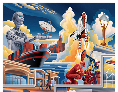 Mural Design and Illustration: American Business Award