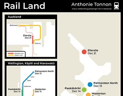 Rail Land Tour Poster