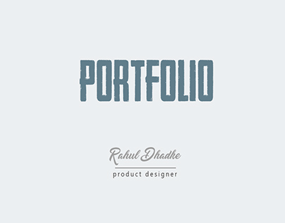 Product Design Portfolio 2016-17