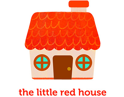 The Little Red House Greeting Cards