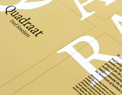 Quadraat—Typographic Poster