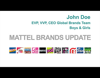 PowerPoint for Mattel