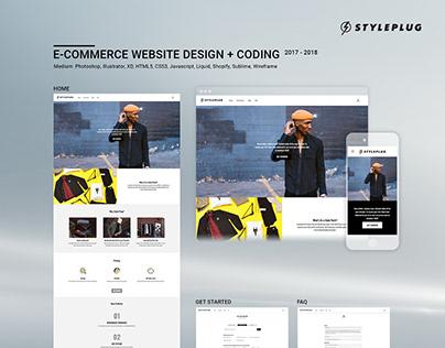 E-commerce Website Design + Coding