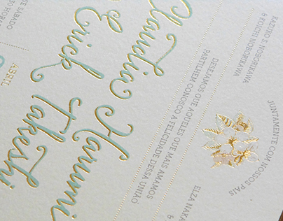 Wedding Invitation - Claudia & Erick