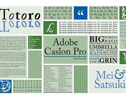 Adobe Caslon Pro Spread: Totoro Theme