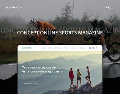 Online Sports Magazine Concept Web Design
