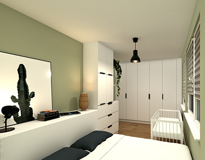 Bedroom for young couple