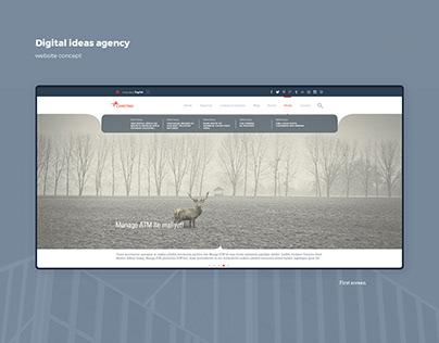 Digital ideas corporate website concept