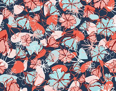 dis. Textil: floral gestual.