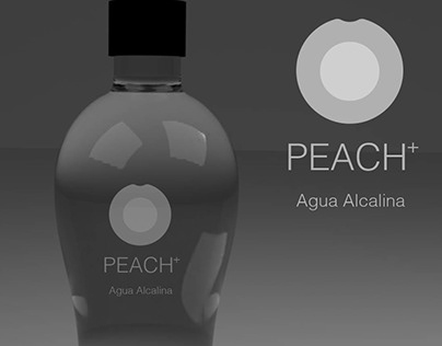 Peach Agua alcalina branding & packiging