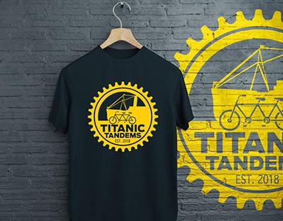 Titanic Tandems logo design