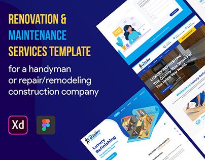 Renovation & Maintenance Services Template