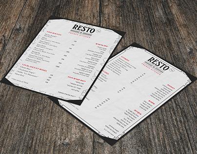 Resto Menu&Flyer