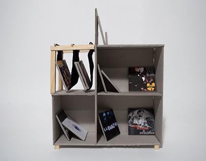 Maquette - meuble à vinyle