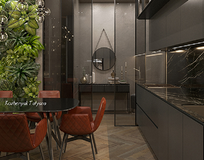 Modern living room with black details (Tetris Hall)