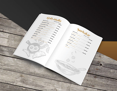 """Port Bazar"" menu design"