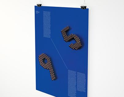 """9-to-5"" — Modular Typographic Poster"