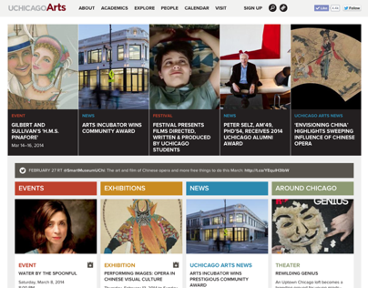 UChicago Arts website
