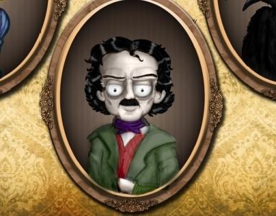 Edgar Allan Poe // The Raven - Characterdesign